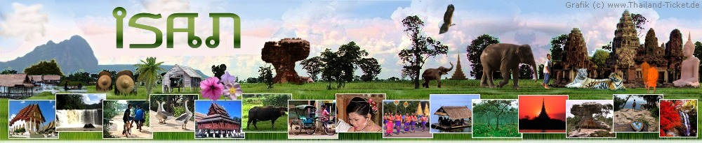 panorama foto: region isan in thailand